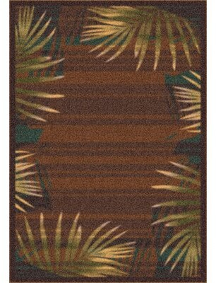 """Matteo Bay Isle Home Palm Brown Leather Area Rug Bay Isle Home Rug Size: Square 7'7"""""""