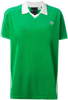 Adidas Originals By Alexander Wang - velour logo polo shirt - unisex - Cotton/Polyester - XS