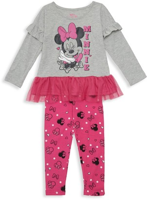 Disney Little Girl's 2-Piece Top & Leggings Set