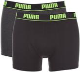 Puma Men's 2-Pack Boxers - Grey/Black