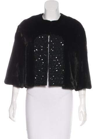 Yves Salomon Sequined Mink Jacket w/ Tags