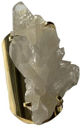 Tiana Jewel Cleanse Clear Quartz Gemstone Ring Gold