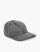 Ami Grey Wool Baseball Cap