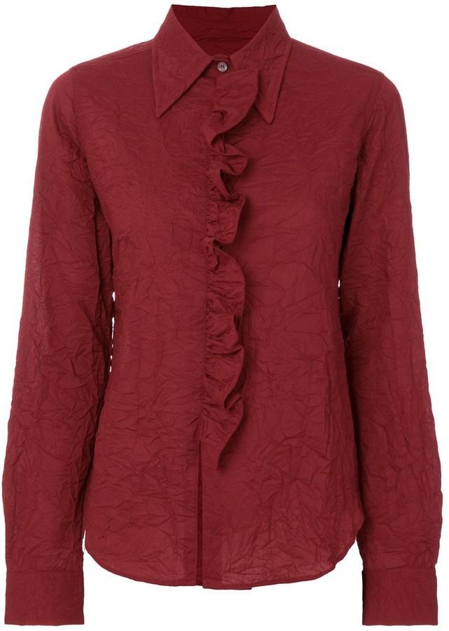 Romeo Gigli Pre-Owned ruffled placket shirt