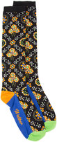 Walter Van Beirendonck - floral border print socks - men - Cotton - One Size