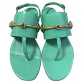 Gucci Green Patent leather Sandals