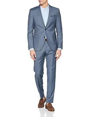 S'Oliver BLACK LABEL Men's 23.903.84.4385 Suit, (Blue Dobby K2)
