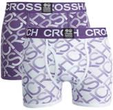 Crosshatch Men's Equalizer 2-Pack Boxers - Purple Rain/White