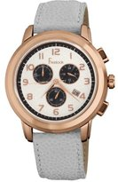 Freelook Women's HA1132CHRG-9 Rose Gold Plated Stainless Steel White Dial Leather Band Watch