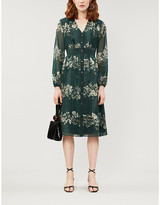 Ted Baker Delyla Meadow Sweep floral chiffon midi dress
