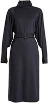 Tibi Calvary high-neck stretch-twill dress