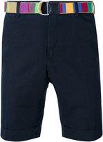 Pt01 belted tailored shorts - men - Linen/Flax/Cotton - 48