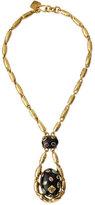 Ashley Pittman Utamaduni Bronze Teardrop Pendant Necklace