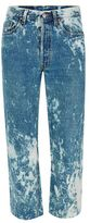 Topman FINDS Blue Acid Bleached Cropped Jeans