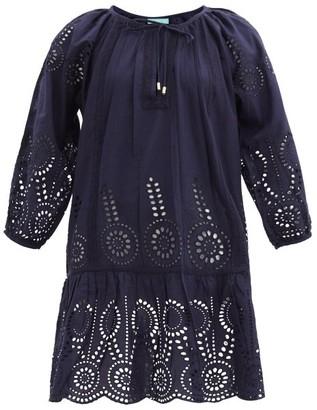 Melissa Odabash Ashley Broderie-anglaise Cotton Minidress - Navy