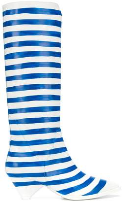 Christian Wijnants Anselm striped mid-calf boots