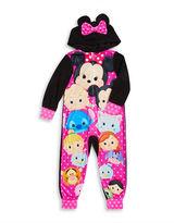 AME Sleepwear Hooded Tsum Tsum Coverall