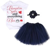 Lily.Pie Toddler Baby Girls Cute Onesies with Tutu Skirt Headband 3pcs Outfits Clothes Set (6-12M, )
