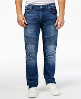 GUESS Men's Skinny-Fit Moto Antique Blue Jeans