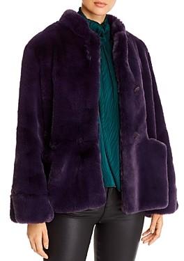 Giorgio Armani Emporio Button-Front Faux-Fur Coat