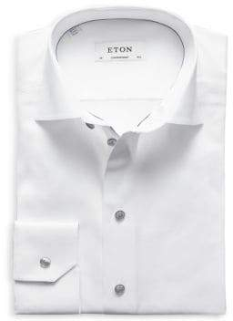 Eton Contemporary Fit Twill with Grey Details Dress Shirt