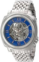 Vince Camuto Men's VC/1069BLSV Silver-Tone Exposed Automatic Bracelet Watch