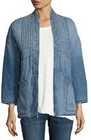 Current/Elliott The Kimono Denim Car Coat, Seto