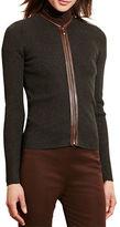 Lauren Ralph Lauren Cotton Zip-Front Cardigan