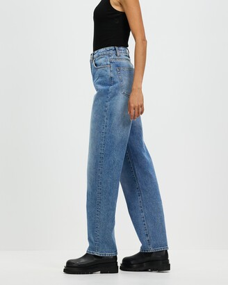 Neuw Women's Blue High-Waisted - Sade Baggy Jeans - Size 30 at The Iconic