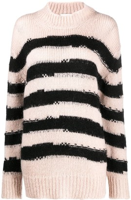 Alysi Long Striped Knit Jumper