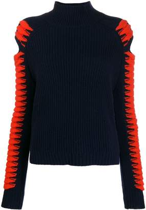 Zoe Jordan cold shoulder jumper