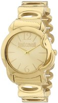 Just Cavalli Women's R7253576501 Eden Gold Ion-Plated Coated Stainless Steel Sunray Dial Watch