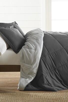 IENJOY HOME Treat Yourself To The Ultimate Down Alternative Reversible 3-Piece Comforter Set - Gray - Queen
