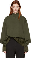 Haider Ackermann Green Mock Neck Pullover