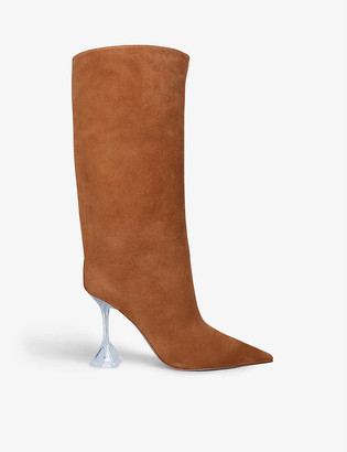 Amina Muaddi Rain heeled suede boots