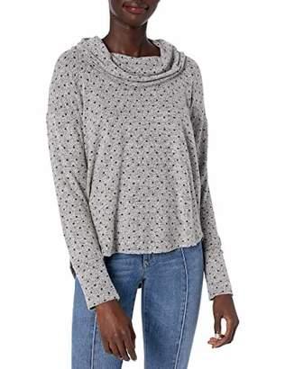 Lucky Brand Women's Cowl Neck Cloud Jersey Dot Top