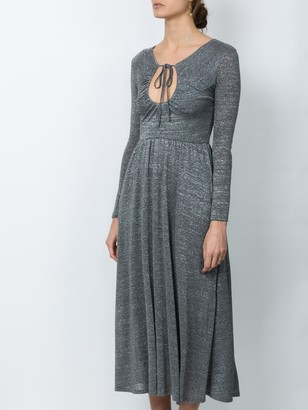 ALEXACHUNG Key-hole Flared Dress Grey