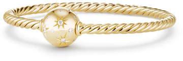 David Yurman 18k Solari Diamond Station Bracelet