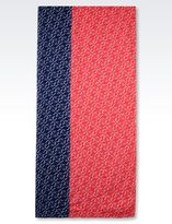 Armani Jeans Scarf In Logoed Fabric
