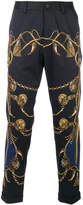 Dolce & Gabbana military print cropped trousers