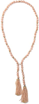 GUITA M 18kt Yellow Gold, Peach Moonstone And Pearl Necklace