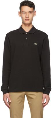 Lacoste Black Pique Long Sleeve Polo