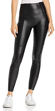 Spanx Faux Leather Hip-Zip Leggings