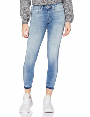 G Star Women's 3301 Mid Waist Ripped Ankle Skinny Jeans