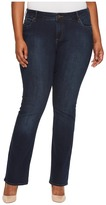 KUT from the Kloth Plus Size Natalie High-Rise Bootcut in Beneficial/Euro Base Wash Women's Jeans