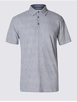 M&S Collection Pure Cotton Checked Polo Shirt
