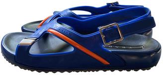 Prada Blue Rubber Sandals