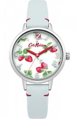Cath Kidston Ladies Strawberries Light Blue Leather Strap Watch CKL006WUS