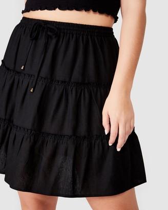 Chloé Curve Woven Mini Skirt