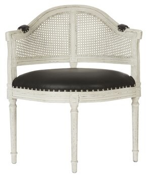 Aidan Gray Blue Barrel Chair Upholstery: Parker Gray, Finish: Silver